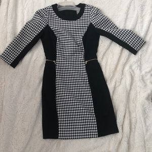 Checkered classy black dress!